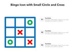 Bingo Icon With Small Circle And Cross