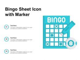 Bingo Sheet Icon With Marker