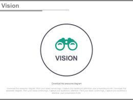 Binocular For Business Vision Analysis Powerpoint Slides