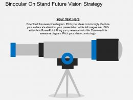 Binocular On Stand Future Vision Strategy Flat Powerpoint Design