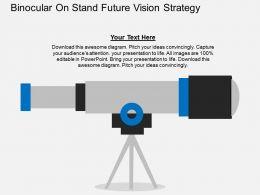 binocular_on_stand_future_vision_strategy_flat_powerpoint_design_Slide01