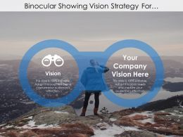 Binocular Showing Vision Strategy For Company Management