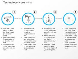 Binocular Telescope Spaceship Rocket Ppt Icons Graphics