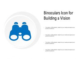 Binoculars Icon For Building A Vision
