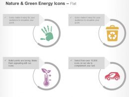 Bio Chemical Recycling Hand Print Eco Friendly Vehicle Ppt Icons Graphics