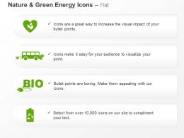 Bio Energy Battery Bus Green Energy Ppt Icons Graphics