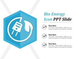 Bio Energy Icon Ppt Slide