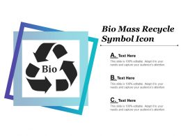 Bio Mass Recycle Symbol Icon