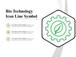 Bio Technology Icon Line Symbol
