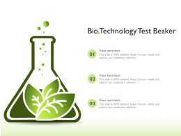 Bio Technology Test Beaker
