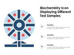 Biochemistry Icon Displaying Different Test Samples