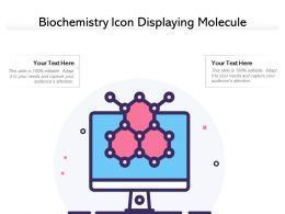 Biochemistry Icon Displaying Molecule