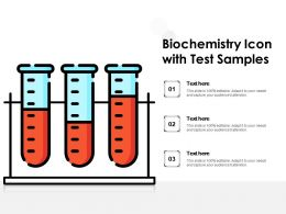 Biochemistry Icon With Test Samples