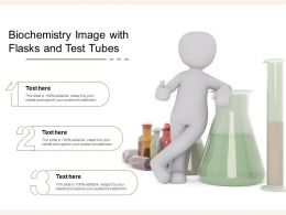 Biochemistry Image With Flasks And Test Tubes