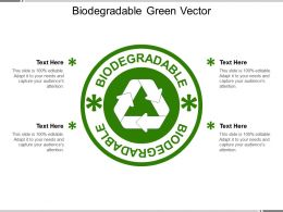Biodegradable Green Vector