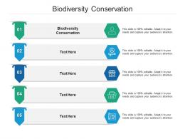 Biodiversity Conservation Ppt Powerpoint Presentation Infographics Vector Cpb