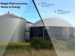 Biogas Plant Converting Waste To Energy
