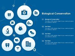 Biological Conservation Ppt Powerpoint Presentation Slides Files
