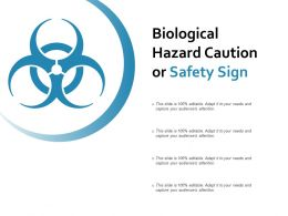 Biological Hazard Caution Or Safety Sign