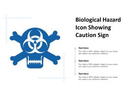 Biological Hazard Icon Showing Caution Sign