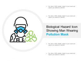 Biological Hazard Icon Showing Man Wearing Pollution Mask