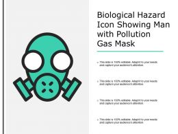 Biological Hazard Icon Showing Man With Pollution Gas Mask