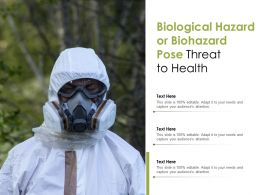 Biological Hazard Or Biohazard Pose Threat To Health