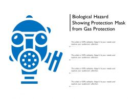 Biological Hazard Showing Protection Mask From Gas Protection