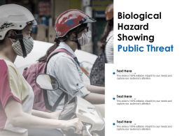 Biological Hazard Showing Public Threat