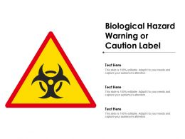 Biological Hazard Warning Or Caution Label