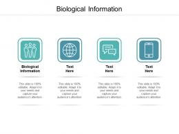 Biological Information Ppt Powerpoint Presentation Icon Deck Cpb