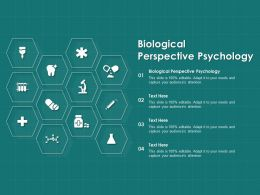 Biological Perspective Psychology Ppt Powerpoint Presentation Outline Graphic Images