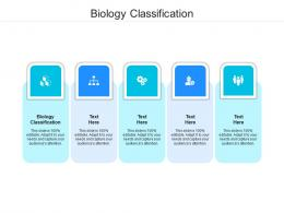 Biology Classification Ppt Powerpoint Presentation File Grid Cpb