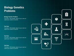 Biology Genetics Problems Ppt Powerpoint Presentation Ideas Sample