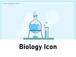 Biology Icon Research Magnifying Glass Chemical Microscope Information Professional