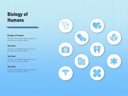 Biology Of Humans Ppt Powerpoint Presentation Summary Inspiration