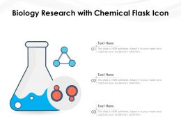Biology Research With Chemical Flask Icon