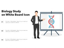 Biology Study On White Board Icon