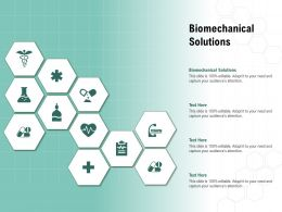 Biomechanical Solutions Ppt Powerpoint Presentation Professional Graphics