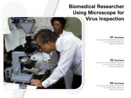 Biomedical Researcher Using Microscope For Virus Inspection