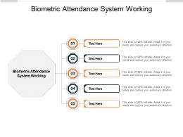 Biometric Attendance System Working Ppt Powerpoint Presentationmodel Brochure Cpb