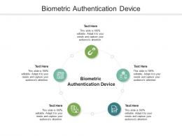 Biometric Authentication Device Ppt Powerpoint Presentation Inspiration Information Cpb