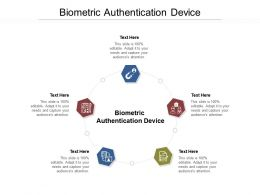 Biometric Authentication Device Ppt Powerpoint Presentation Summary Graphics Cpb