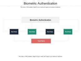 Biometric Authentication Ppt Powerpoint Presentation Portfolio Shapes Cpb