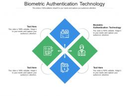 Biometric Authentication Technology Ppt Powerpoint Presentation Portfolio Gallery Cpb
