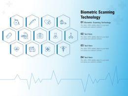 Biometric Scanning Technology Ppt Powerpoint Presentation Slide