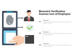 Biometric Verification Scanner Icon Of Employee