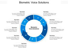 Biometric Voice Solutions Ppt Powerpoint Presentation Pictures Designs Download Cpb