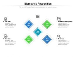 Biometrics Recognition Ppt Powerpoint Presentation Summary Example Cpb