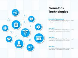 Biometrics Technologies Ppt Powerpoint Presentation Layouts Information